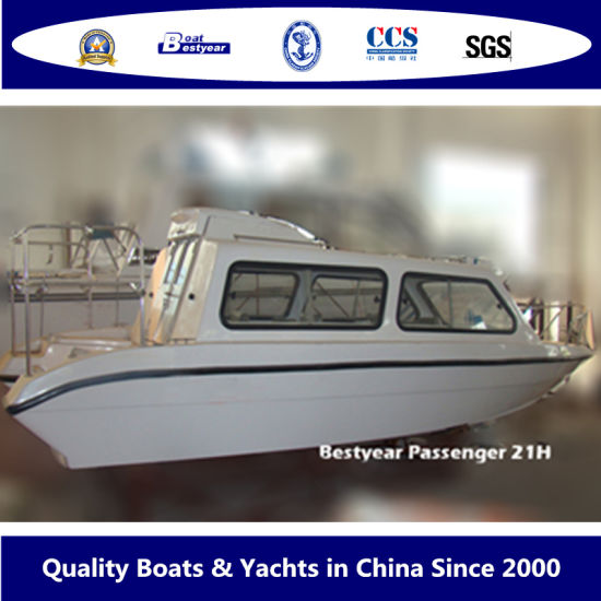 Bestyear Passenger Boat of 21h Fiberglass Boat Passenger Transport pictures & photos