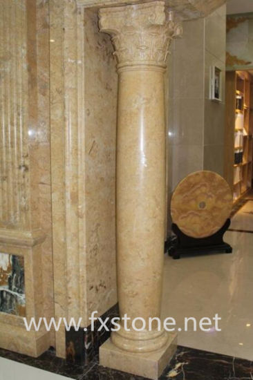 off-White Marble Roman Pillar (BJ-FEIXIANG-0050) pictures & photos