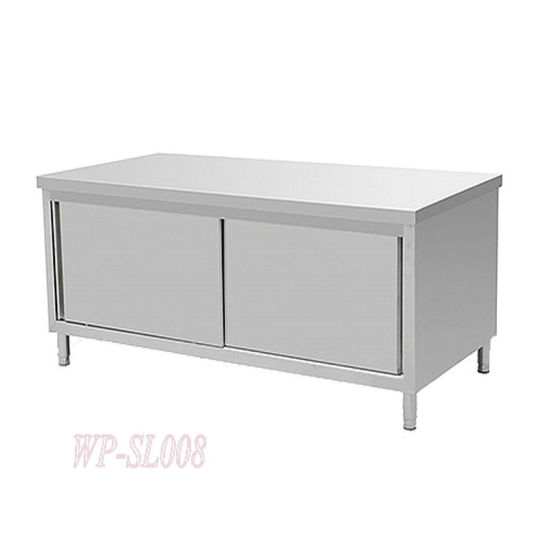 China Stainless Steel Kitchen Working Table with Cabinet - China ...