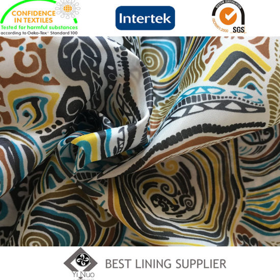2016 New Fashion Polyester 210t Taffeta Printed Lining Jacket Liner Lining