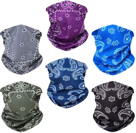 Custom Multipurpose UV Protection Assorted Series Sport Polyester Seamless Bandana Outdoor Headwear