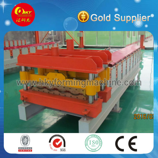 New Type Roofing Panel 836 Glazed Tile Roll Forming Machine with Auto Stacker