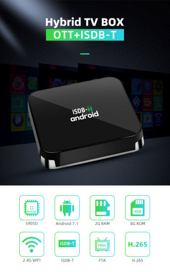 South America ISDB-T Digital Receiver 4K Android Smart TV Box