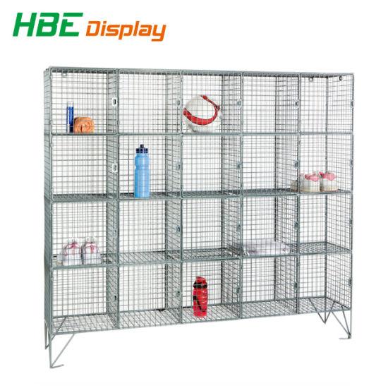 Wonderful Four Doors Storage Cube Wire Mesh Locker