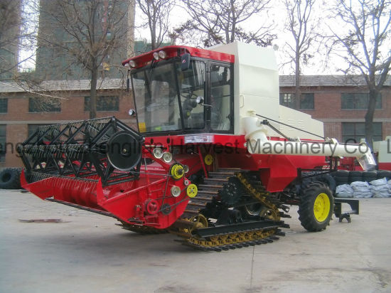 Tank Combine Harvester Machine for Paddy Rice Wheat pictures & photos