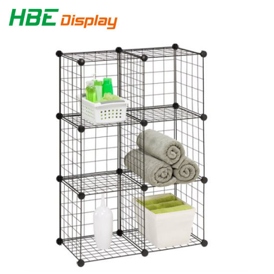 China Grid Wire Modular Shelving and Storage Cubes China Stacking