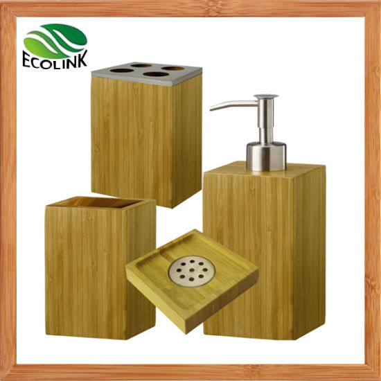 Bamboo Bathroom Accessories / Bathroom Accessories Set pictures & photos