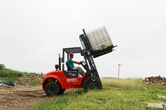 China Rough Terrain Forklift 3 5ton, 2 Wheel Drived