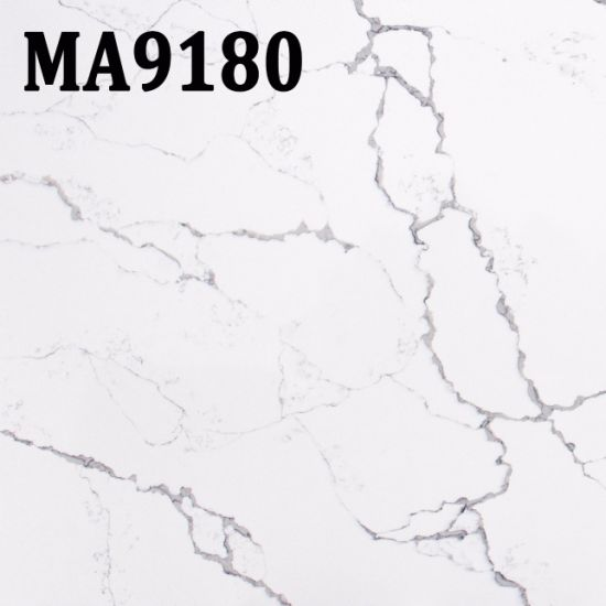 White Artifical Quartz Stone Slabs Decoration for Kitchen Countertops pictures & photos