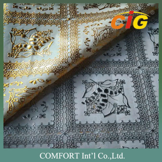 Colorful PVC Lace Tablecloth Nice Surface Handle Soft with Much Designs Much Thickness pictures & photos
