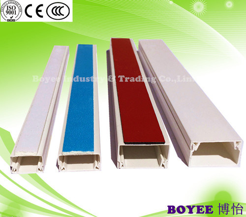 PVC Trunking with Blue Tape / Electrical Cable Trunking / Trunking with Adhesive pictures & photos