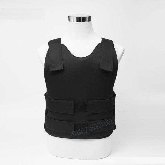 Concealable Kevlar Aramid / UHMW-PE Soft Body Armor Bullet Proof Vest