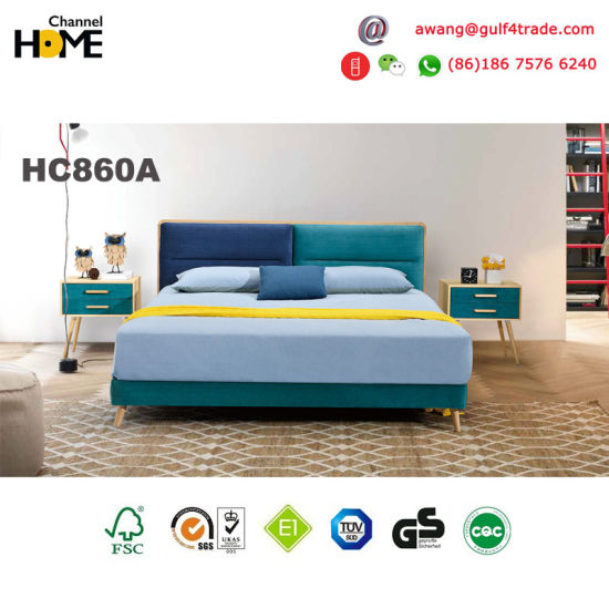 Hot Sale Wooden Home Furniture Kids Fabric Bed in Bedroom Furniture (HC860) pictures & photos