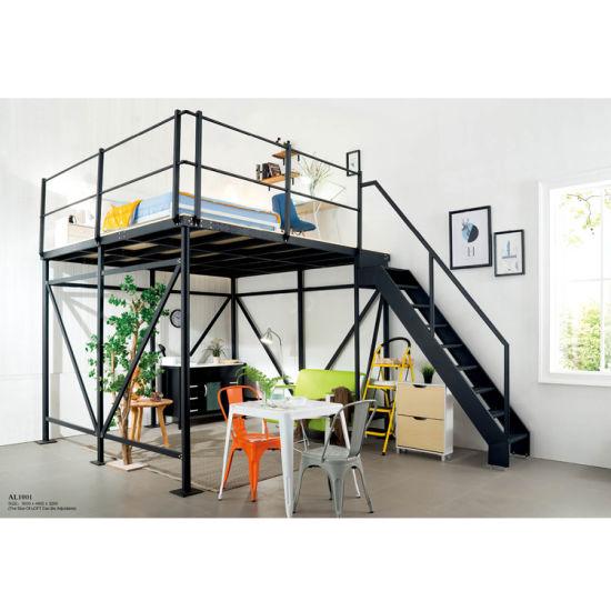 China Bedroom Furniture School Steel Metal Bunk Bed With Stair