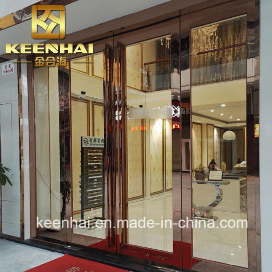 China Exterior Stainless Steel Glass Commercial Entry Doors China