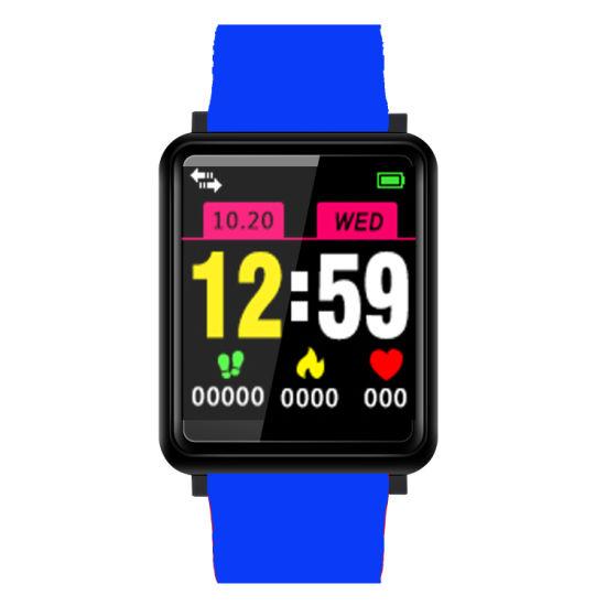 Lower Than USD8.2/PCS Smart LED Bluetooth Notification Bracelet Tracker Sport F1 F1plus Smart Movement Healthy Bracelet with Blood Pressure Watch