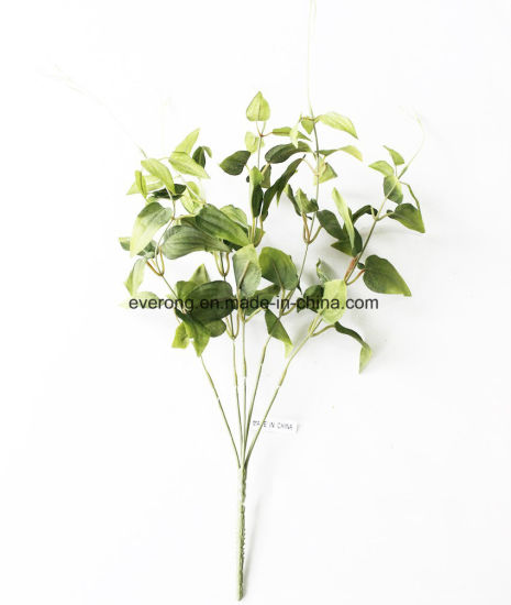 5 Braches Flower Artificial Plant Leaves Silk Acacia Green Poison Ivy Fake For Walls Bulk