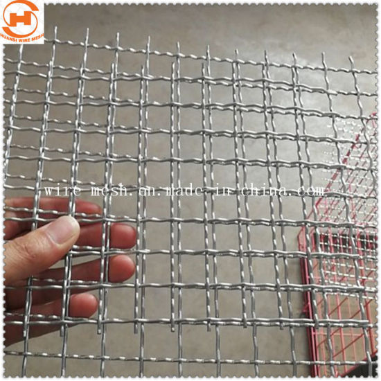 Galvanized/Stainless Steel Crimped Wire Mesh