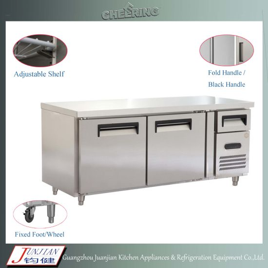 China Commercial Stainless Steel Door Prep Table Refrigerator - Commercial prep table refrigerator