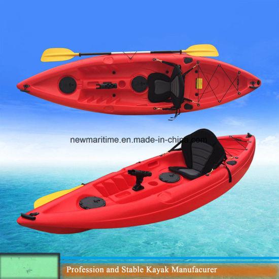 Cheap Plastic Sit on Top Recreational Pink Kayak for Girl Racing Kayak