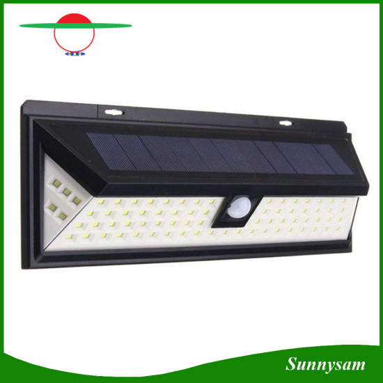 80 LED Solar Motion Sensor Light Outdoor Security Wall Wide Angle With 5 On Both Sides For Garden Backyard