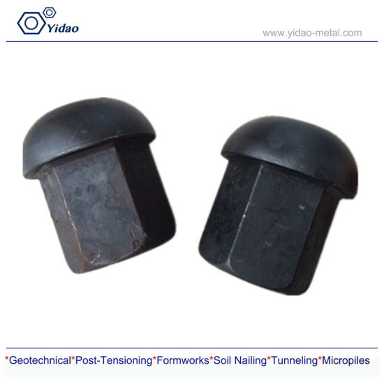 M32 High Tensile Strength Steel Bar Domed Nut for Mining Project