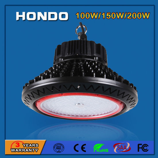 5 Years Warranty 150W UFO High Bay LED Lighting for Industrial Use