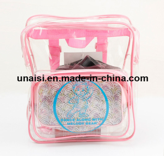 Promotion Clear PVC Carry Case Backpack Transparent Cosmetic Bag pictures & photos