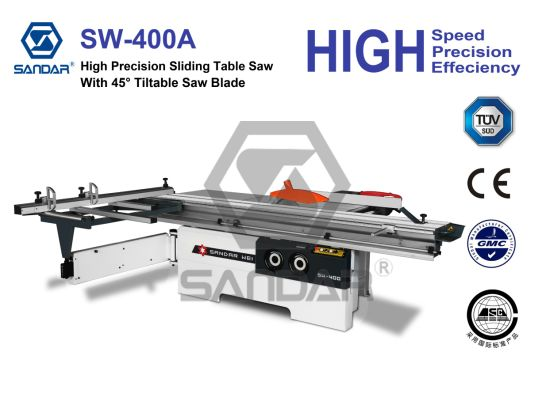 Woodworking Tiltable Blade Type Panel Sliding Table Sawing Machine