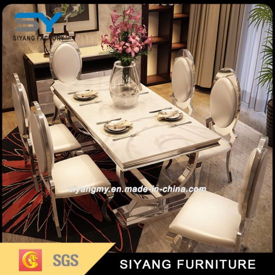 Wholesale Metal Furniture Dining Room Table Banquet Table Dining Table pictures & photos