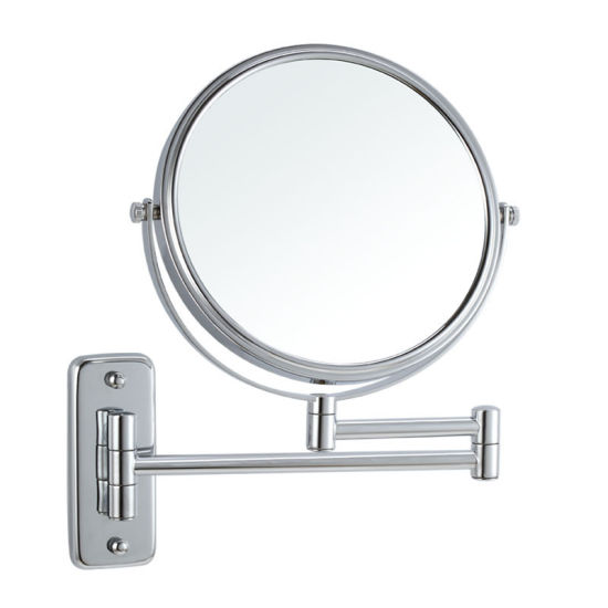 Bathroom Wall Mounted Makeup Swing Arm 3x Magnifying Mirror Mo 8k W