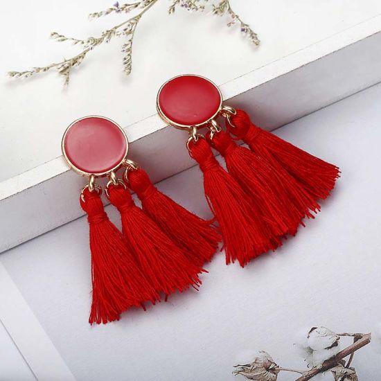 Tassel Earrings for Women Beads Long Statement Earrings 2018 Big Earings  Dangle Fashion Jewelry Boho Summer Jewellery