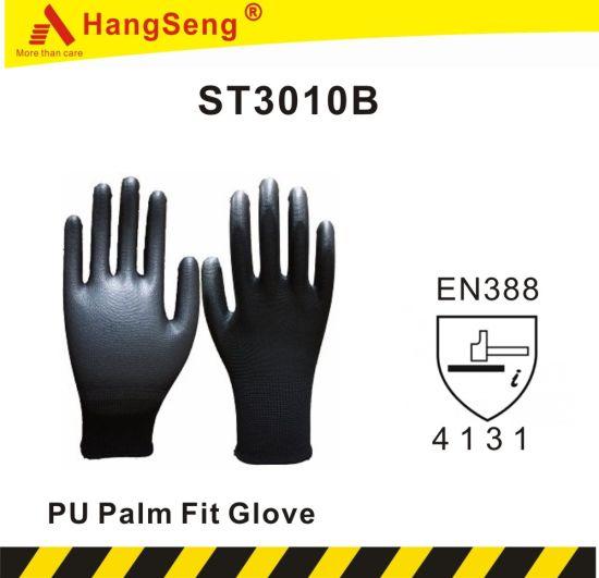 Lite Flex PU Palm Safety Work Glove (ST3010B, CE Certificated)
