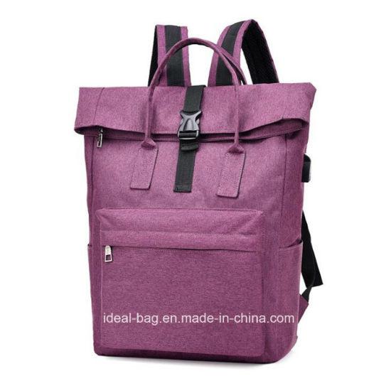 6ed7f3d690d6 China Nylon Cotton Canvas School Bag Student Travel Bag Backpack ...