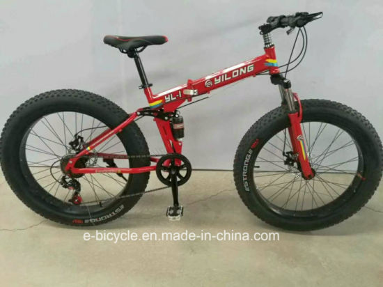2018 Foldable Fat Tire F/R Shock Absorber 26inch Mountain E Bicycle pictures & photos