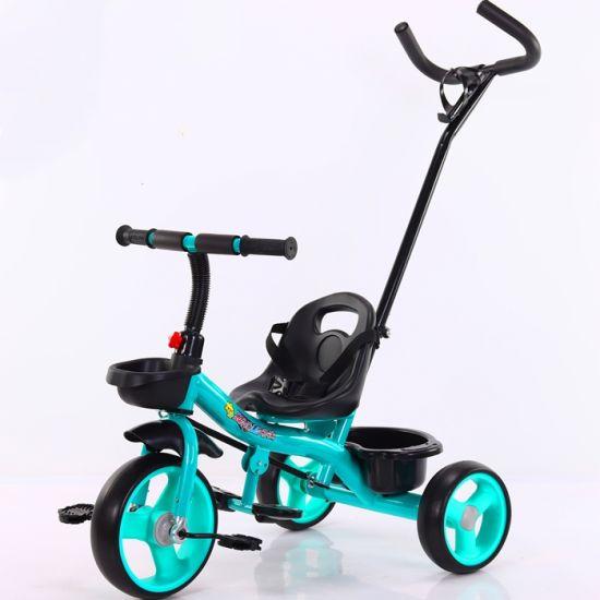 Steel Material Baby Ride on Pedal 3 Wheel Trike 2 in 1
