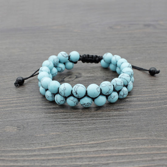 Exquisite Chinese  Turquoise Hand knit elastic Bracelet