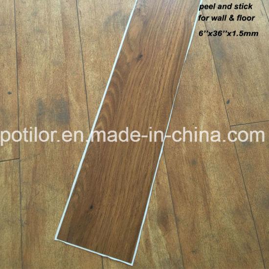 China Pvc Self Adhesive Flooring Tiles Peel And Stick Floor Self
