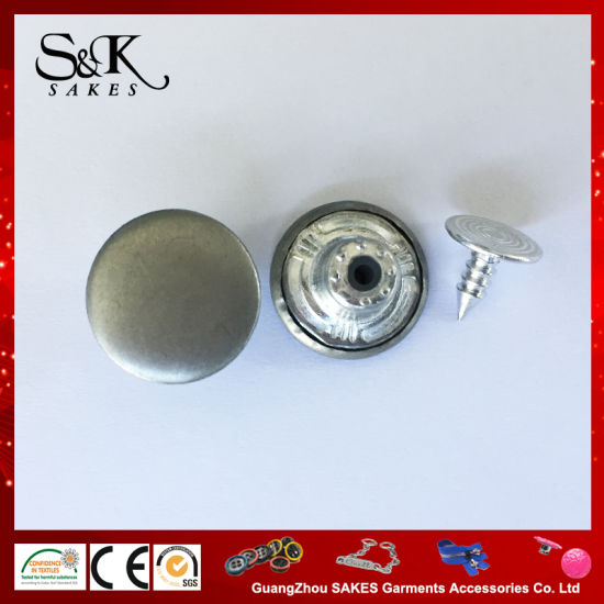 Cheap Price Good Quality Metal Shank Button Jeans Button for Garments