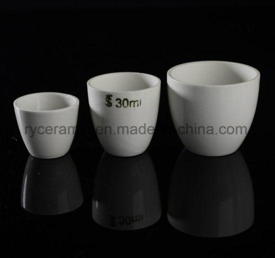 Medium Form Porcelain Crucible, Ceramic Crucible