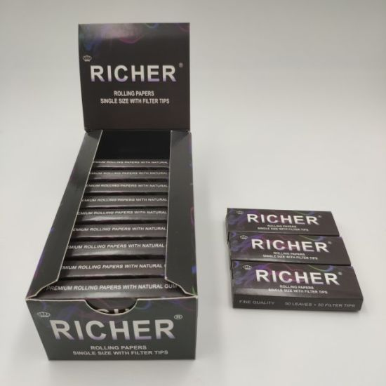 16 GSM King Size Slim with Tips Cigarette Rolling Paper