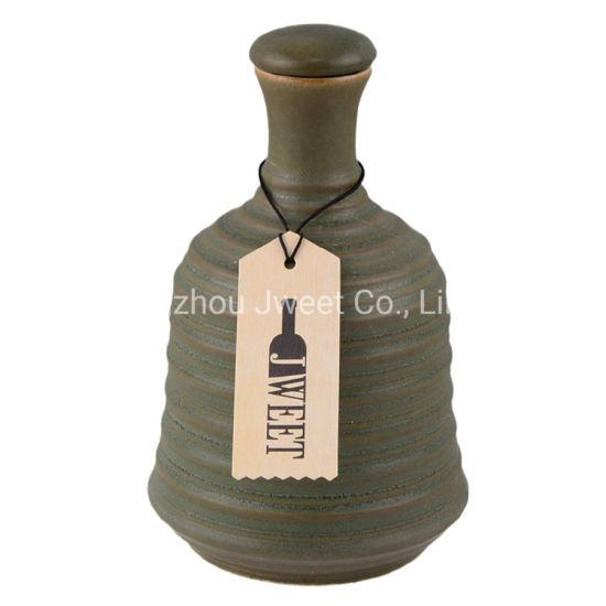 Custom Classic Green 500ml 750ml Ceramic Oil Bottle