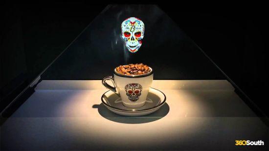 "360 Degree 19"" 3D Hologram Display Showcase /Holo Box"