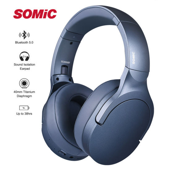 Hot Sale Somic Sc2000bt Foldable Stereo Bass Noise Cancelling Bluetooth Headphones 260g