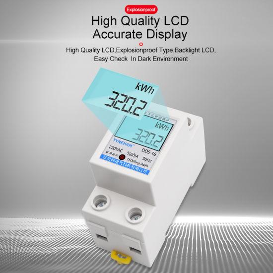 China 17 Dds 16 36mm Width Kwh Meter China Kwh Meter Energy Meter