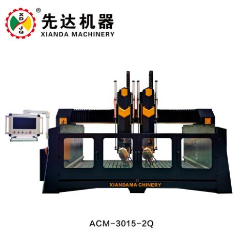 4 Axis Cutting Stone Carving CNC Router for Cylinder Objects or Desk Legs