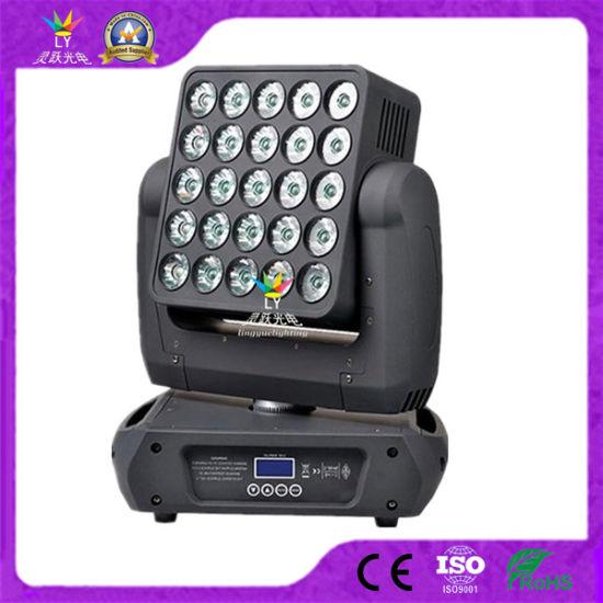 DJ Disco DMX 25X12W RGBW 4in1 Moving Head LED Stage Blinder