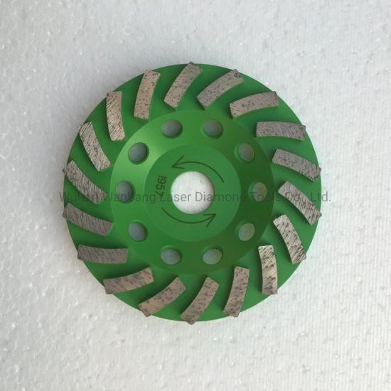 "4"" Premium Turbo Diamond Cup Wheel for Granite Hard Concrete 30//40 Grit"
