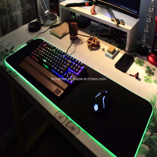 US RGB Gaming Mouse Pad Extra Large Soft 7 Lighting Modes LED Extended Mouse Pad