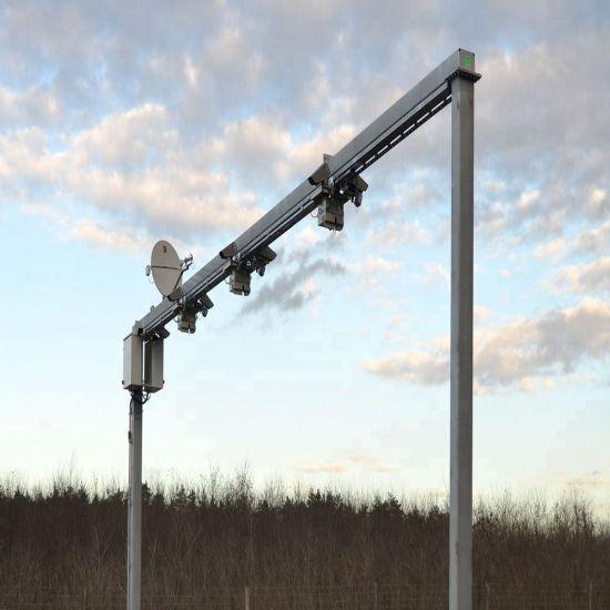 High Quality Galvanized 12m Height Antique Cast Iron Lamp Post Street Lighting Pole Price